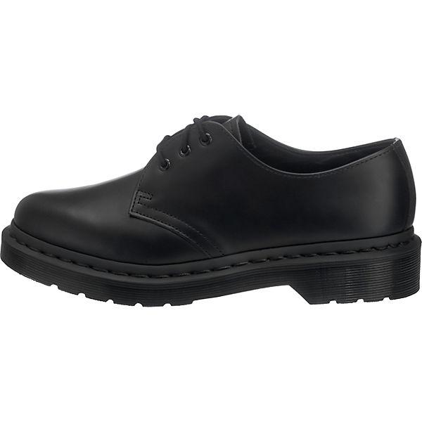 Dr. Martens, 1461 MONO schwarz Smooth Black Klassische Halbschuhe, schwarz MONO   130ff6