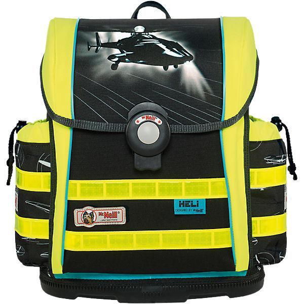 McNeill Schulranzenset ERGO Light 912 S DIN Heli mit Blinkfunktion, 4-tlg. schwarz/weiß Junge Sale Angebote Frauendorf