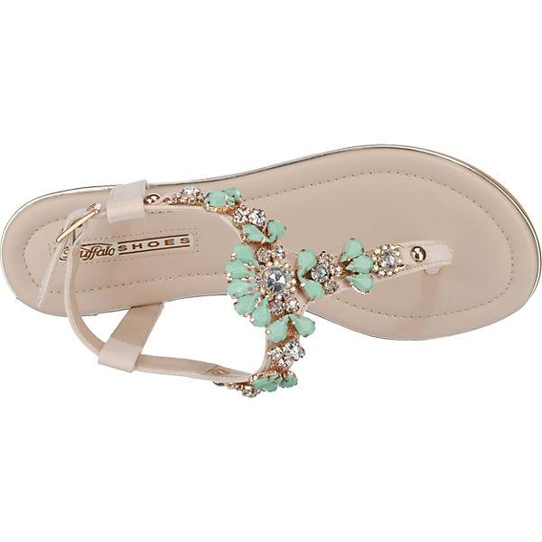 BUFFALO BUFFALO BUFFALO T-Steg-Sandalen türkis  Gute Qualität beliebte Schuhe 9cbfd6