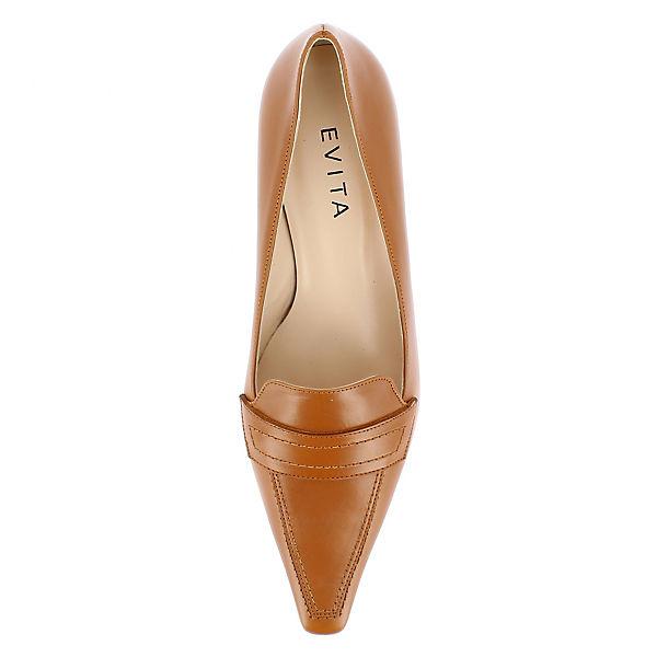 Evita Shoes,  Evita Shoes Pumps, cognac  Shoes,  3999c2