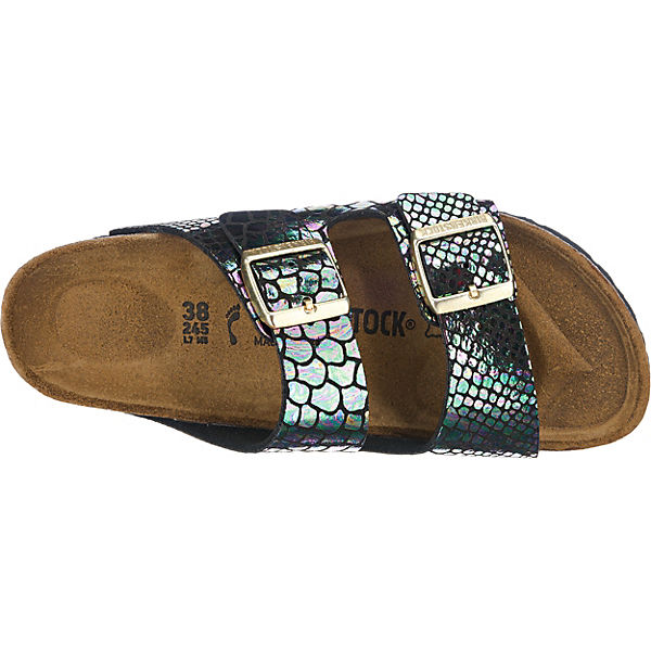 BIRKENSTOCK, BIRKENSTOCK  Arizona Pantoletten schmal, schwarz-kombi  BIRKENSTOCK Gute Qualität beliebte Schuhe 270614