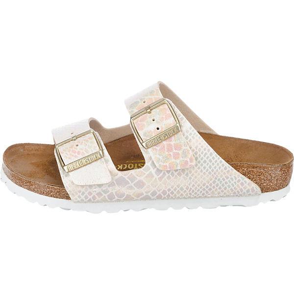 BIRKENSTOCK, Arizona Gute schmal Komfort-Pantoletten, creme  Gute Arizona Qualität beliebte Schuhe a06fef