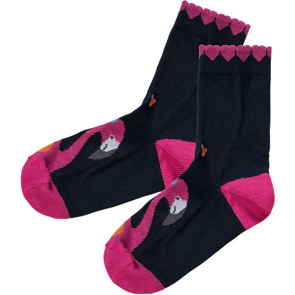 FALKE Kinder Socken Flamingo dunkelblau