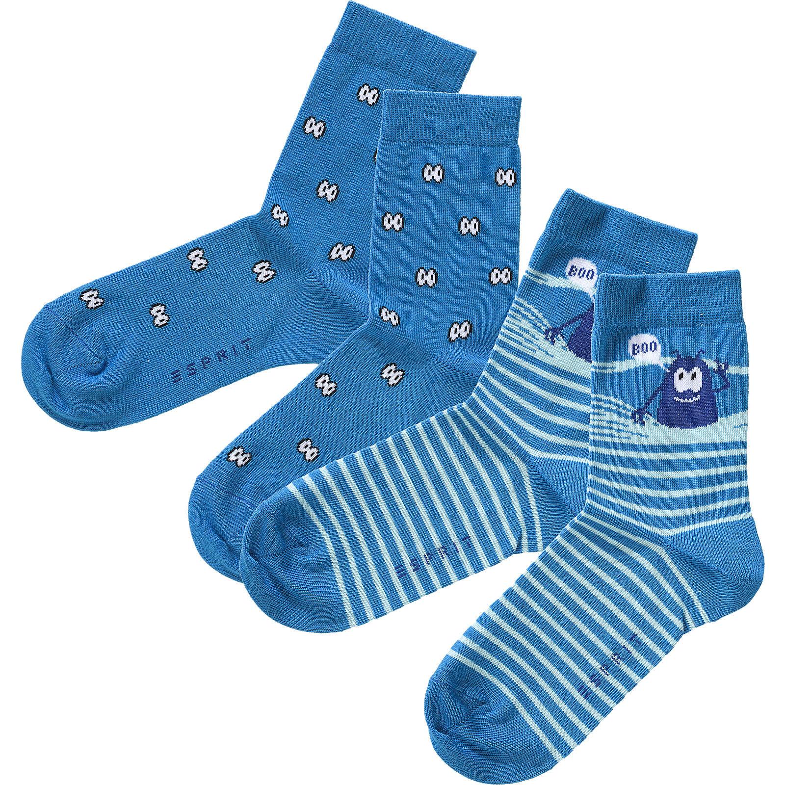 ESPRIT Kinder Socken Doppelpack Monster blau Ju...