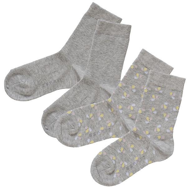 Großkmehlen Angebote ESPRIT Kinder Socken Doppelpack Flower grau Mädchen Gr. 27-30