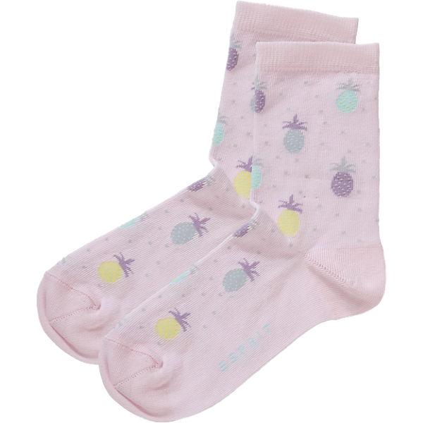 ESPRIT Kinder Socken Doppelpack Ananas rosa