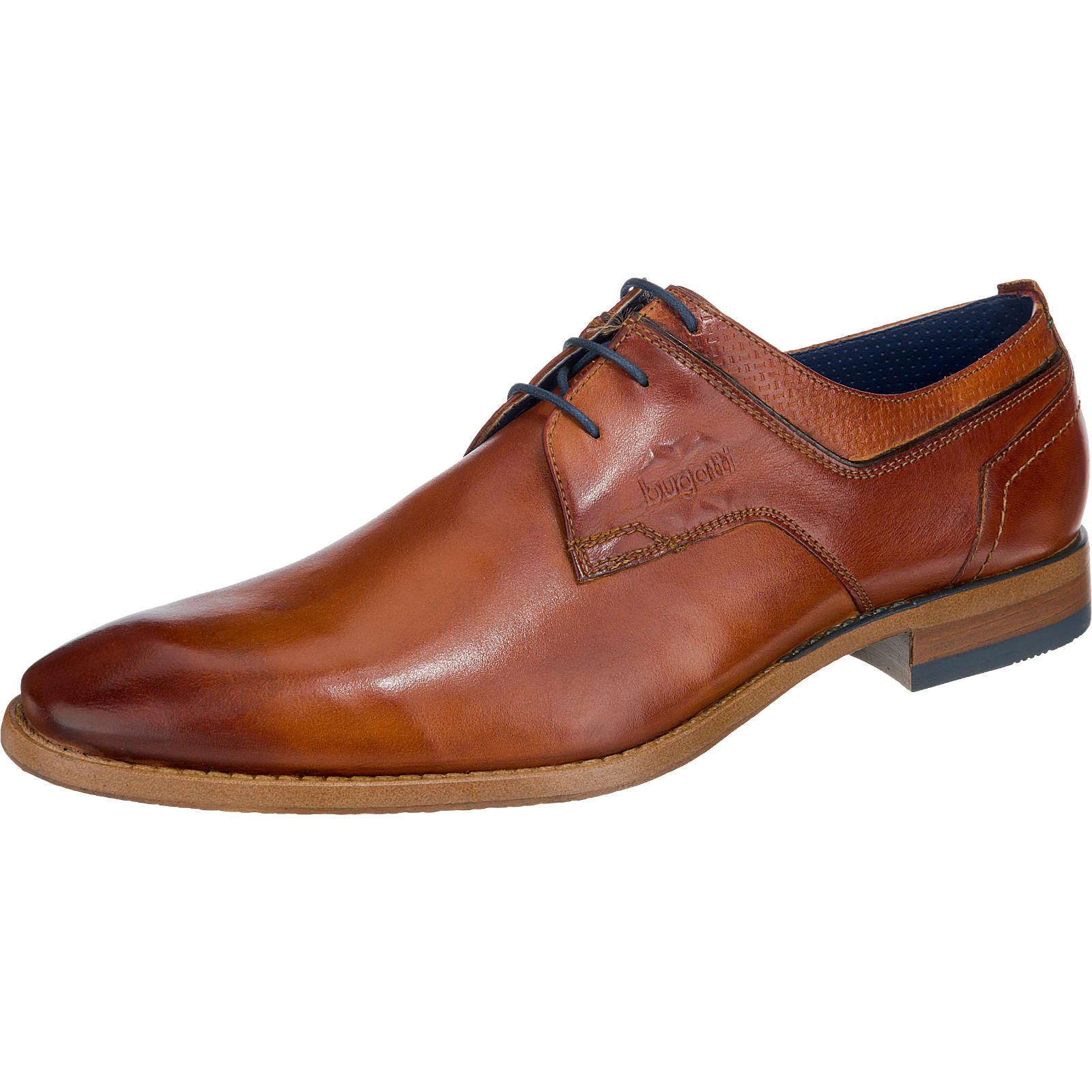 bugatti Business Schuhe braun-kombi Herren Gr. 44