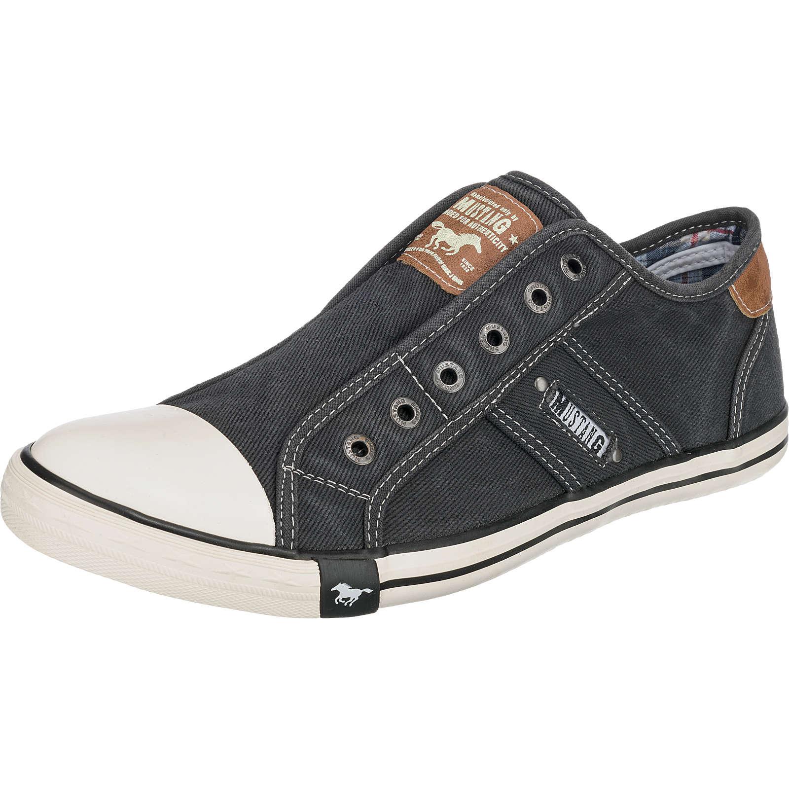 MUSTANG Slip-On-Sneaker schwarz Herren Gr. 42