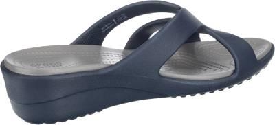 ... crocs CROCS Sanrah Strappy Wedge Pantoletten dunkelblau ...