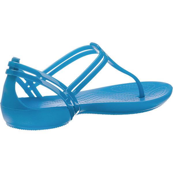 crocs CROCS Isabella T-strap Blue Sandaletten blau