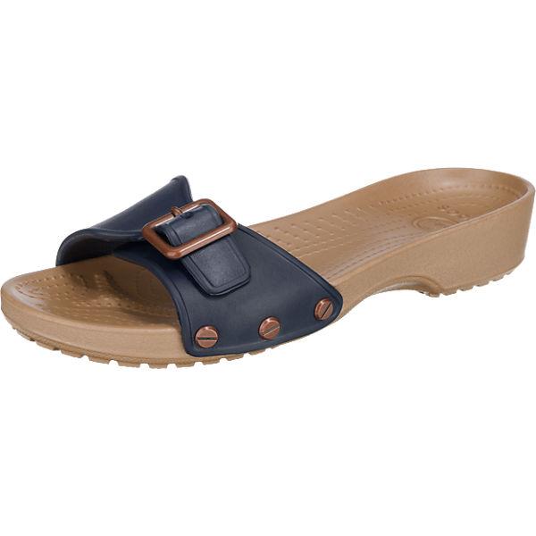 crocs CROCS Sarah Pantoletten blau-kombi