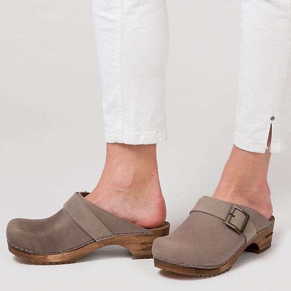 Sanita Komfort-Pantoletten grau