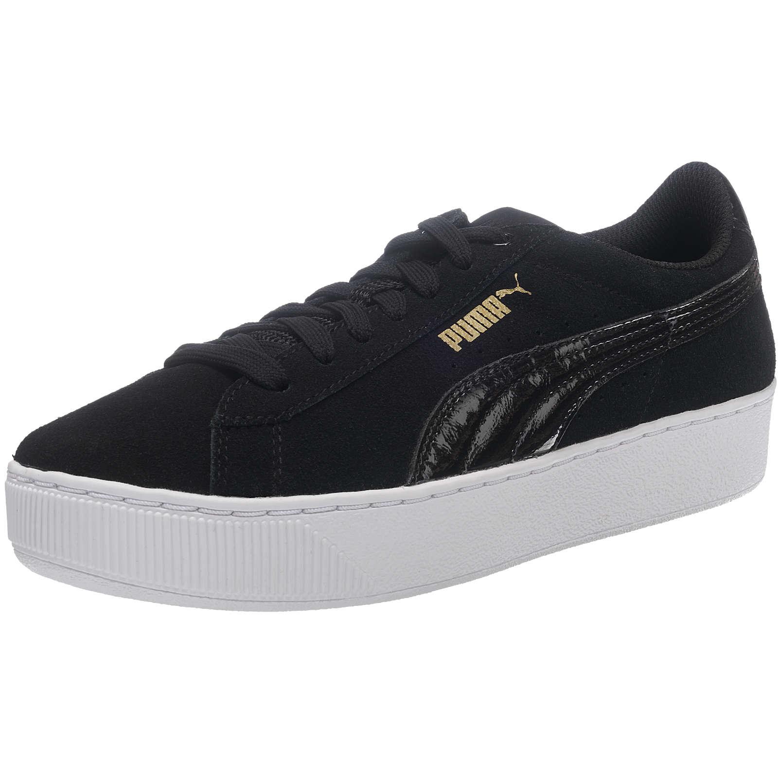 PUMA Vikky Platform Sneakers Low schwarz/weiß Damen Gr. 40