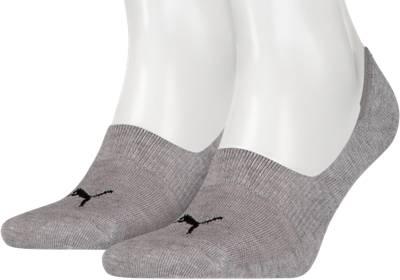 PUMA, PUMA 2 Paar Füßlinge Socken, grau