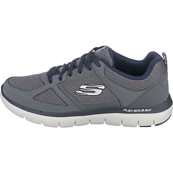 nbsp; ADVANTAGE Low SKECHERS grau 2 FLEX Sneakers 0 xqUw68wP