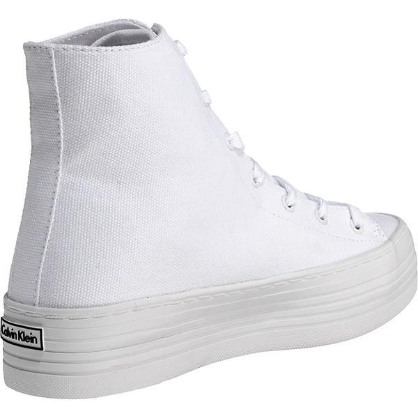 CALVIN High CANVAS KLEIN JEANS ZABRINA Sneakers weiß RBzRrKgT
