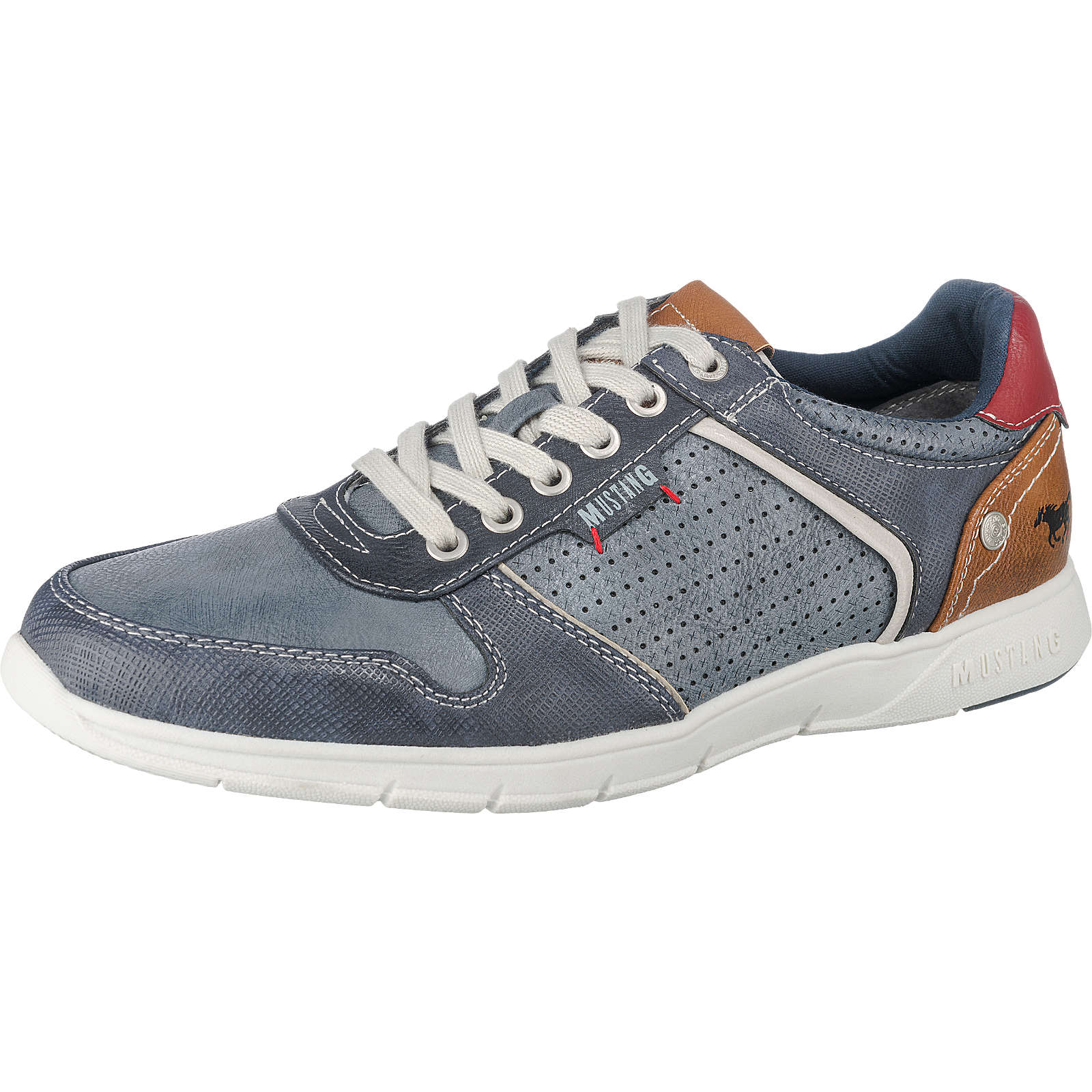 MUSTANG Sneakers blau Herren Gr. 44