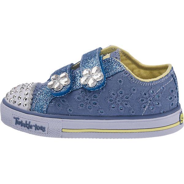 SKECHERS Sneakers Twinkle toes Blinkies für Mädchen blau