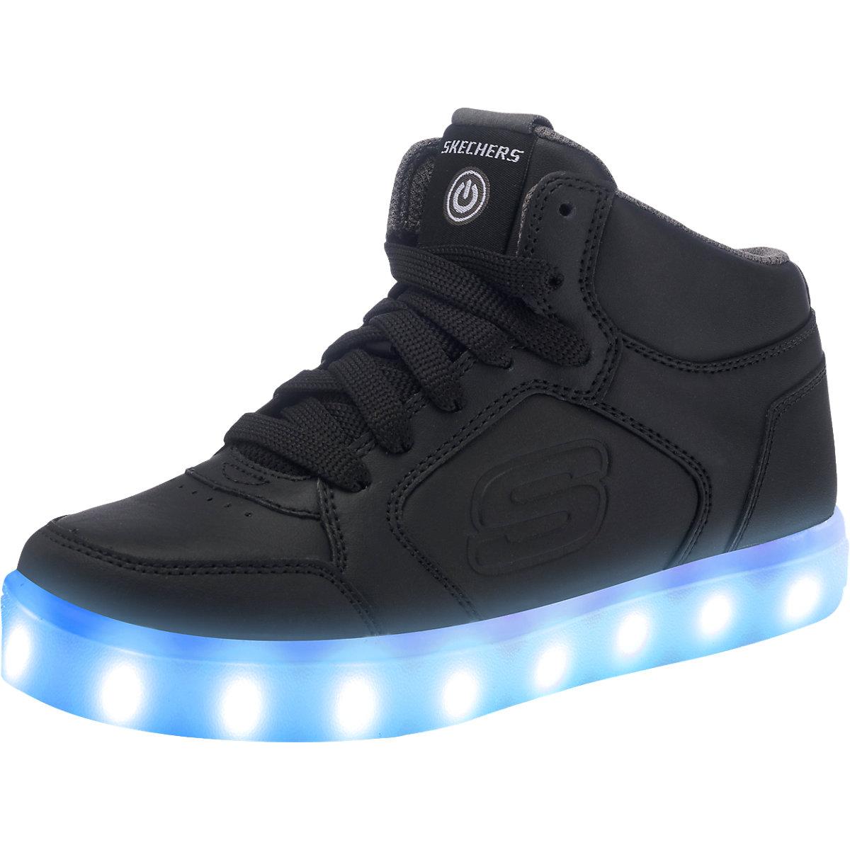 skechers kinder sneakers high blinkies mit led sohle schwarz mirapodo. Black Bedroom Furniture Sets. Home Design Ideas
