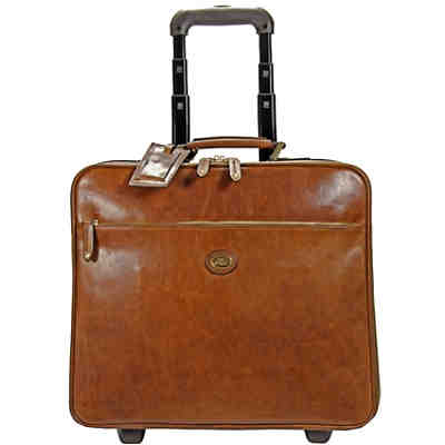 The Bridge Story Viaggio Pilotenkoffer Business-Trolley Leder 46 cm Laptopfach