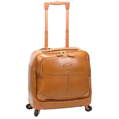 Bric's Life Pelle 4-Rollen Businesstrolley Leder 43 cm Laptopfach