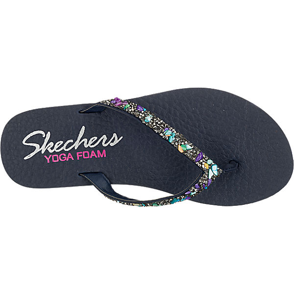 SKECHERS SKECHERS Meditation Break Water Pantoletten dunkelblau