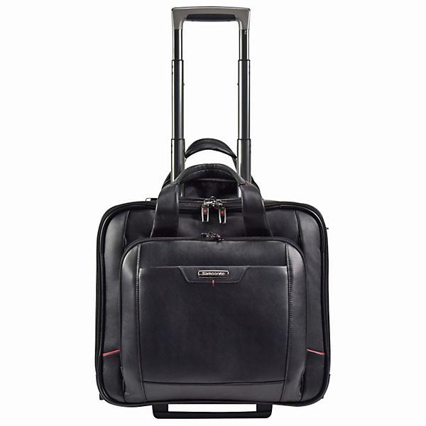 Samsonite Samsonite Pro-DLX 4 LTH 2-Rollen Business Trolley Leder 43cm Laptopfach schwarz