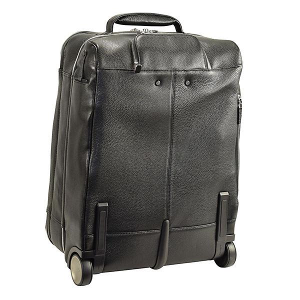Piquadro Piquadro Modus 2-Rollen Business Trolley Leder 52 cm Laptopfach schwarz