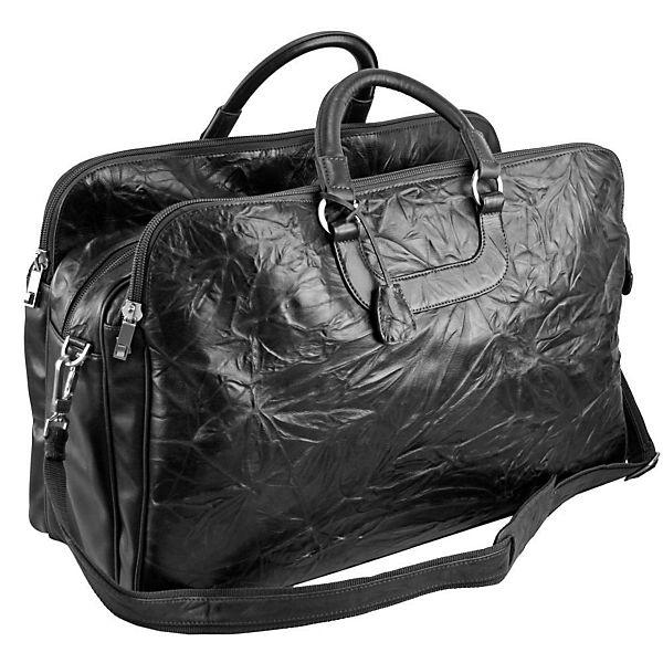 Dermata Dermata Reisetasche Leder 60 cm schwarz