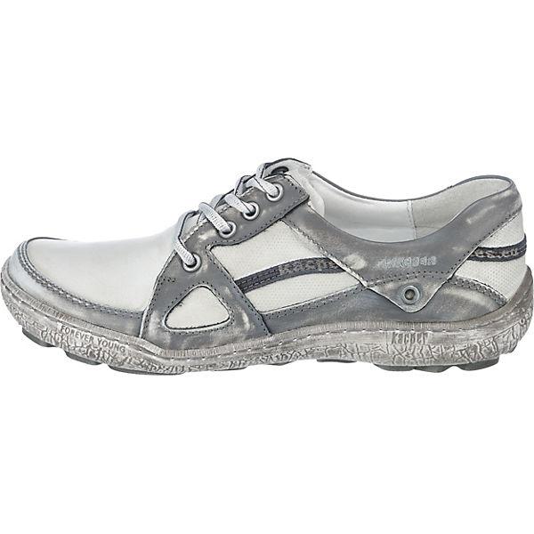 Kacper, Komfort-Halbschuhe, weiß/grau  beliebte Gute Qualität beliebte  Schuhe 65d94f