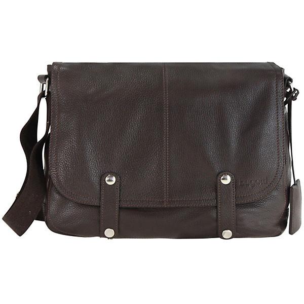 bugatti bugatti Brisbane Messenger Tasche Leder 35,5 cm Laptopfach braun