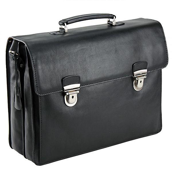 PICARD Picard Toscana Aktentasche Leder 42 cm Laptopfach schwarz