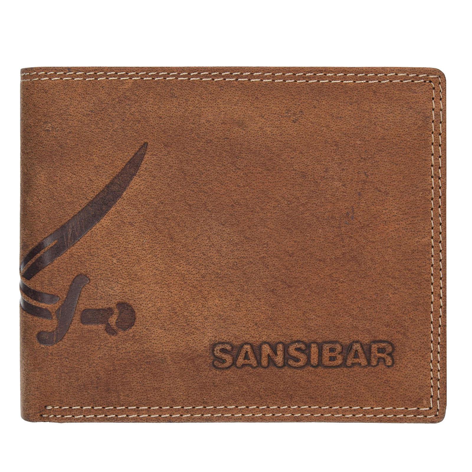 Sansibar List Herren Querformat Geldbörse Leder 12 cm mit Klappfach braun Herren
