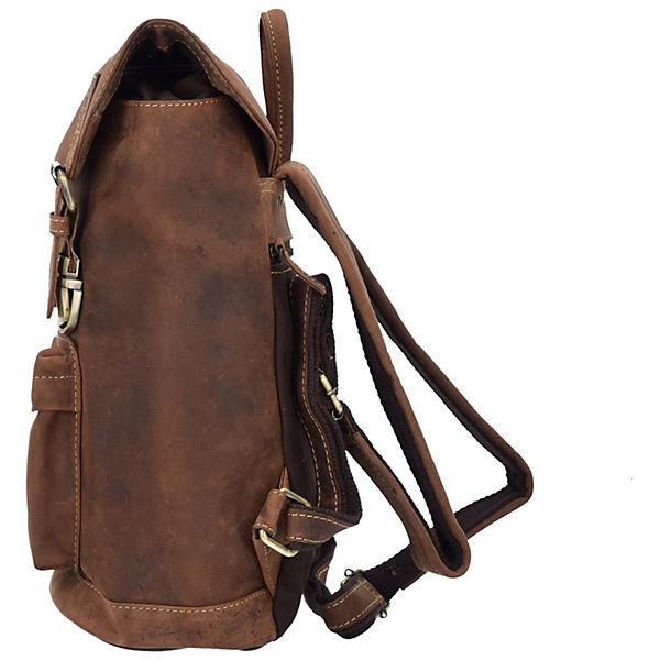 Greenburry Greenburry Vintage Rucksack Leder 42 cm Laptopfach braun