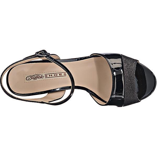BUFFALO, RiemchenSandaleetten, schwarz beliebte  Gute Qualität beliebte schwarz Schuhe f373c2