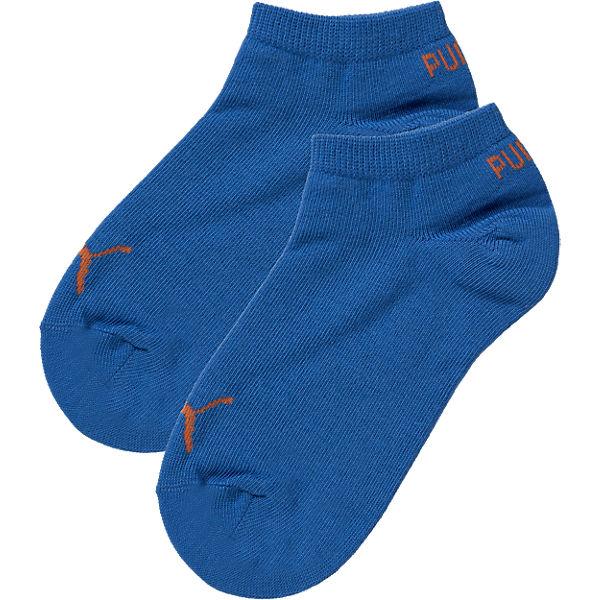 PUMA Socken Doppelpack für Jungen blau/orange