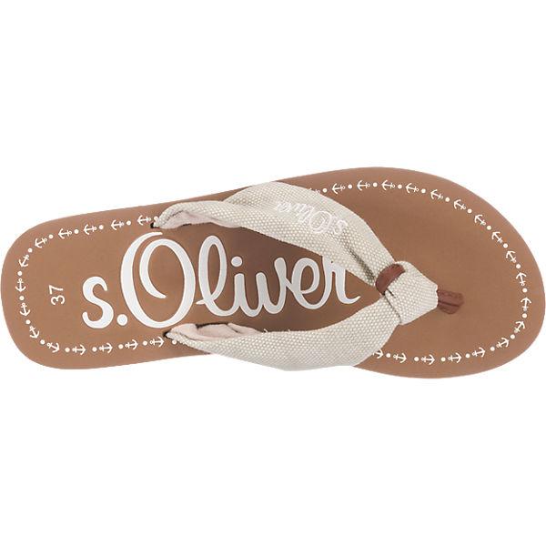 s.Oliver s.Oliver Pantoletten beige