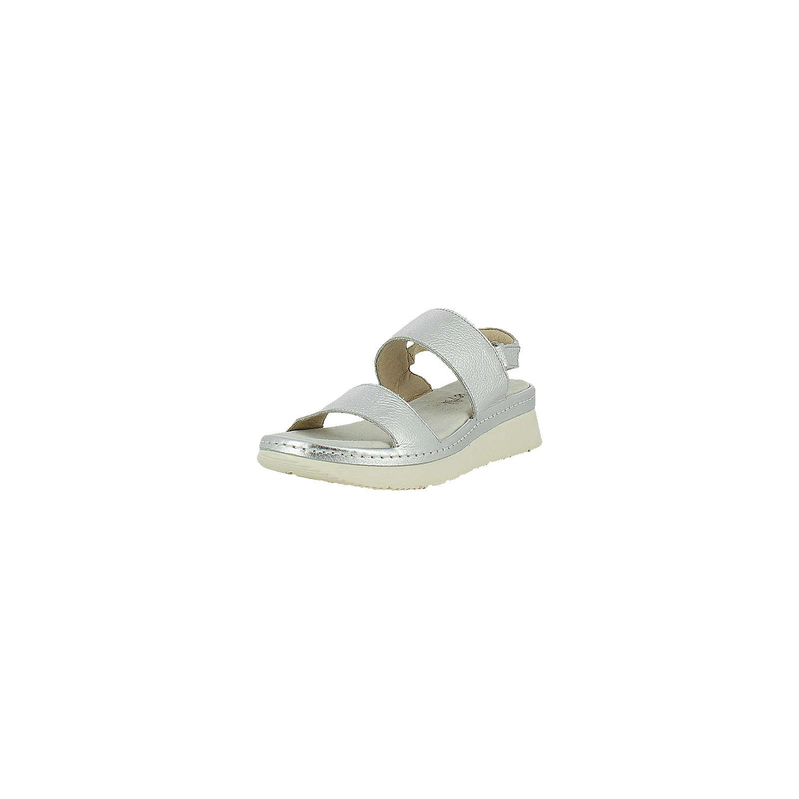 MANAS Sandaletten silber Damen Gr. 41