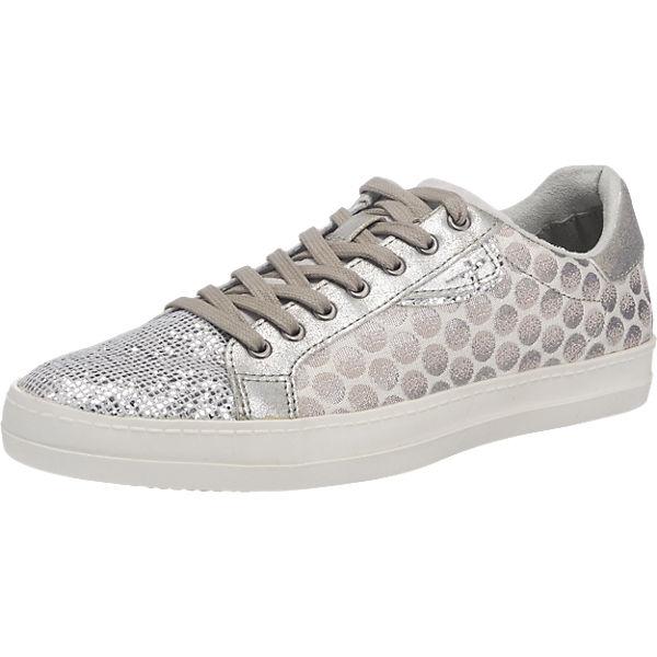 tamaris tamaris marras sneakers silber materialmix aus synthetik und textil mirapodo. Black Bedroom Furniture Sets. Home Design Ideas
