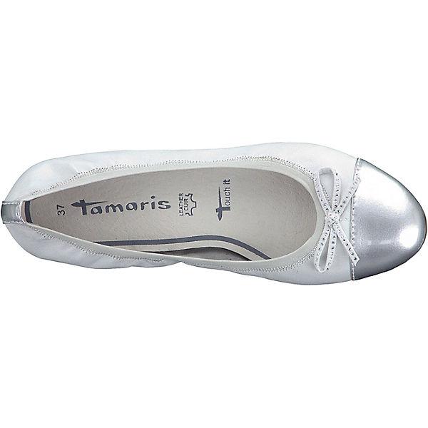 Tamaris Tamaris Alena Ballerinas weiß