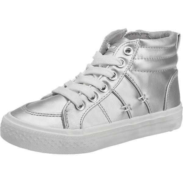 Friboo Sneakers High im Metallic-Look für Mädchen silber