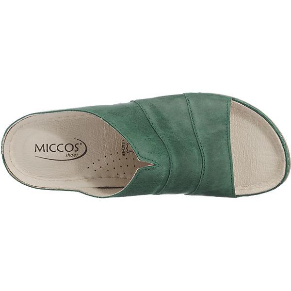Miccos dunkelgrün dunkelgrün Miccos Miccos Pantoletten Pantoletten Miccos Miccos Sn0qXpdp