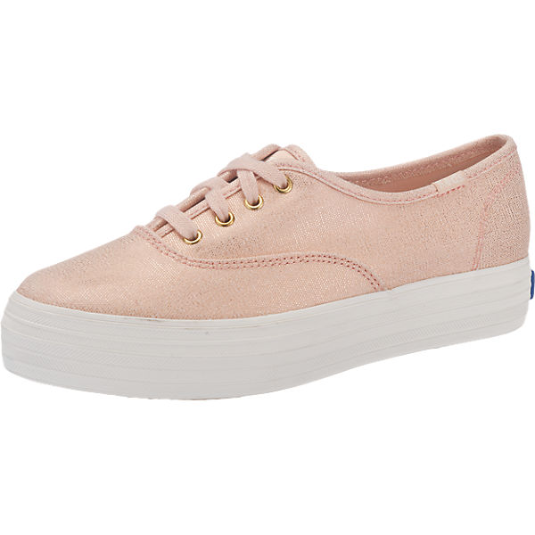 Keds Keds Triple Metallic Canvas Sneakers rosa