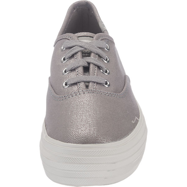 Keds Keds Triple Metallic Canvas Sneakers silber