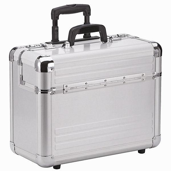 Dermata Dermata Aluminium Pilotenkoffer Trolley 46,5 cm Laptopfach silber