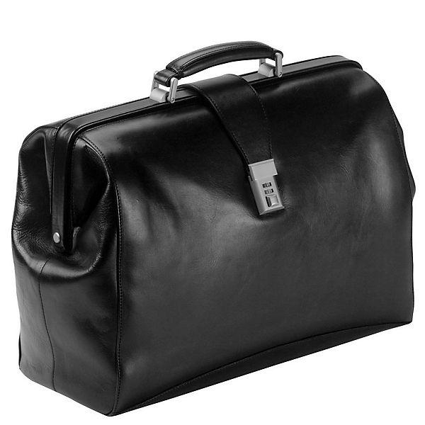 Dermata Dermata Arzttasche Leder 43 cm Laptopfach schwarz