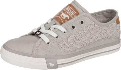 MUSTANG, Sneakers Low, hellgrau