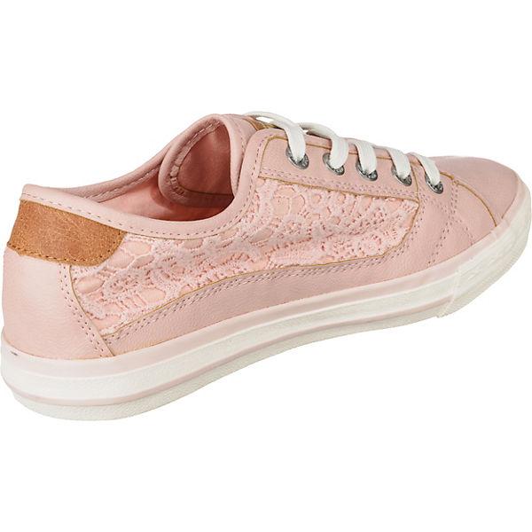 MUSTANG, Gute Sneakers Low, rosa  Gute MUSTANG, Qualität beliebte Schuhe 56c483