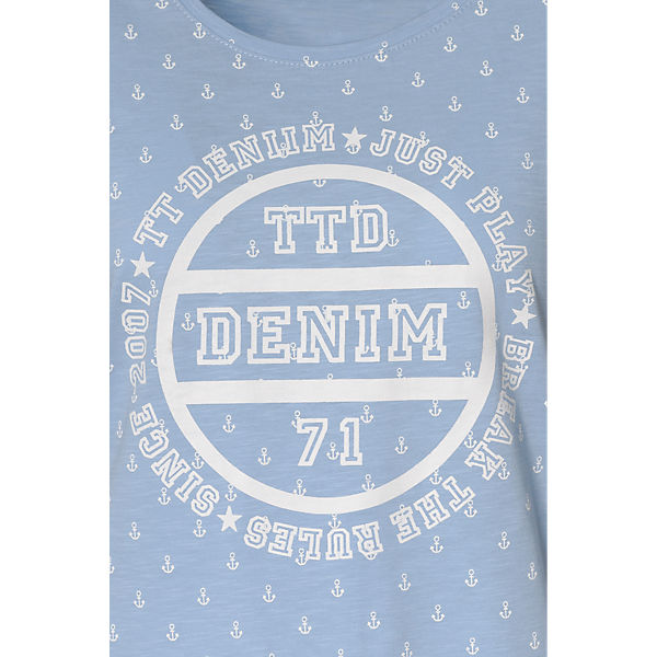 hellblau Shirt T TOM Denim TAILOR PxqTnFp