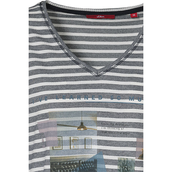 Oliver s Arm dunkelblau 3 4 Shirt H4qOd4
